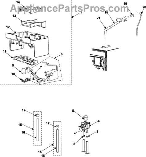 samsung refrigerator maker parts diagram parts for samsung rm255barb maker parts