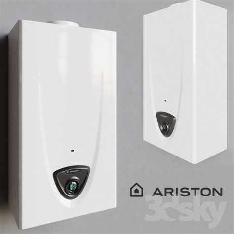 Water Heater Ariston Gas 3d models household appliance gas water heater fast evo