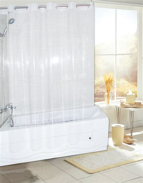 no hook shower curtains carnation home fashions inc quot ez on quot peva shower