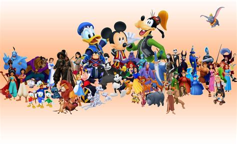 wallpaper of disney characters disney characters backgrounds wallpaper cave