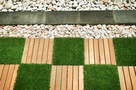Garden Tiles Rustic And Artificial Grass Garden Wall Tiles
