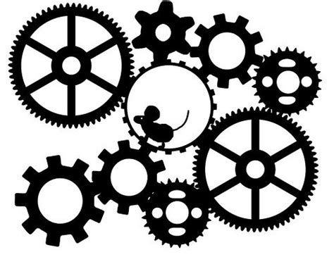 Stencil Machine Gear By 1airbrush 11 best images about gears on gear clock