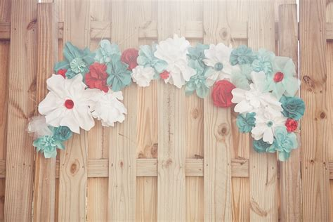 How To Make Paper Flowers For Wedding Decorations - white teal paper flowers for wedding decor onewed