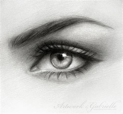 A Drawing Of An Eye by Eye Drawing By Gabbyd70 On Deviantart