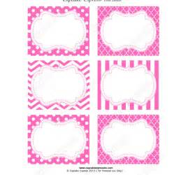 pink princess printable food labels diy