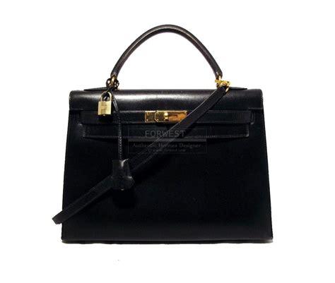 Hermes Leather Bag hermes black 32cm box leather rigid bag 6200 0000