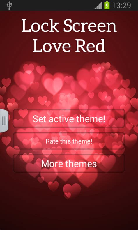 love lock themes lock screen love red free android theme download appraw