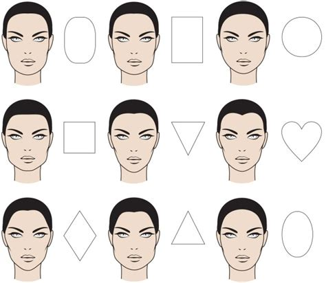 head shapes and hairstyles wondering which hairstyle fits your face click through to
