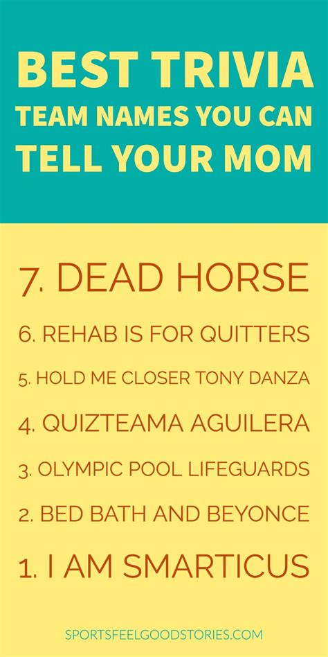 Film Themed Quiz Team Names | best trivia team names you can tell your mom anyone who