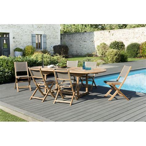 fauteuil pliant 2481 salon de jardin n 176 120 comprenant 1 table ovale extensible