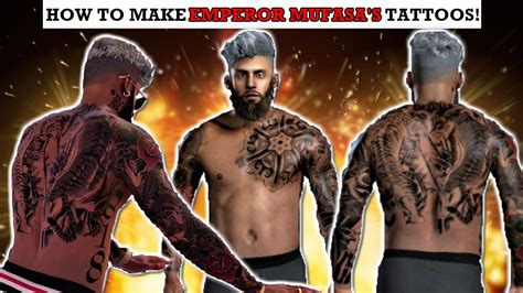 nba 2k18 how to make the best tattoos beautiful tattoos nba 2k17 how to make emperor mufasa s tattoos best