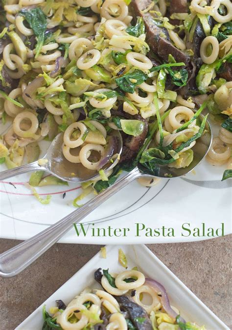 winter pasta salad winter pasta salad with portobello mushrooms vegan
