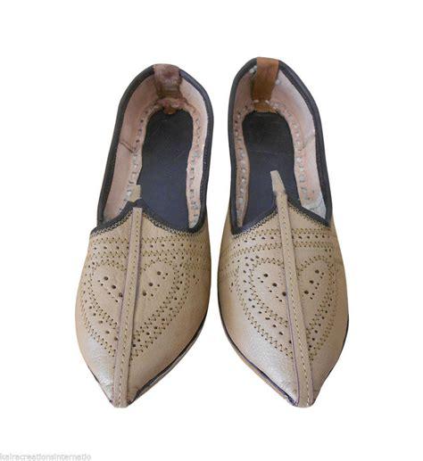 Handmade Indian Shoes - us 7 rajasthani shoes handmade indian mojari leather