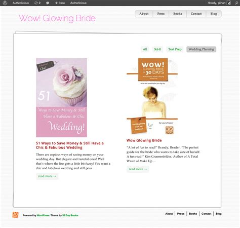 wordpress themes book library authorlicious wordpress template preview page 30 day books