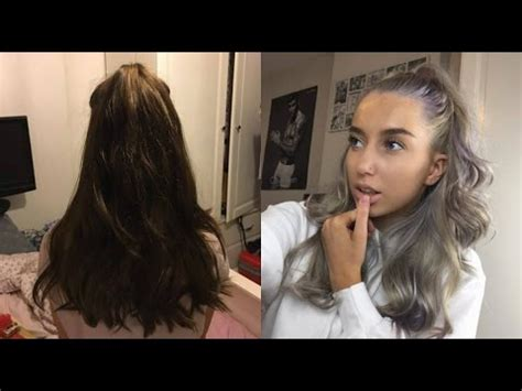 gray nonperminit hair color for kids how i got my hair from brown to silver in 2 days 0