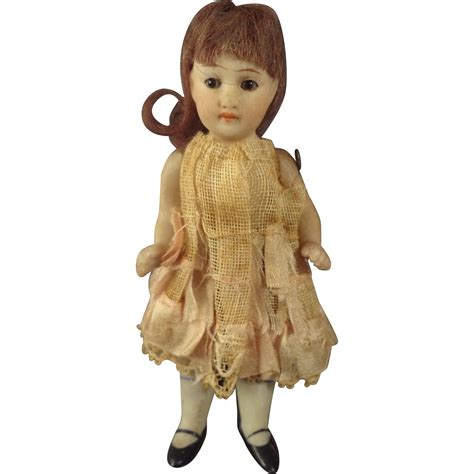 bisque doll with glass 4 quot all bisque doll with glass and jointed limbs from