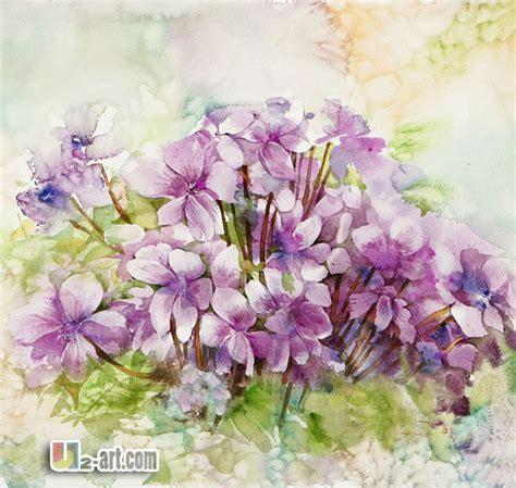 Lukisan Tangan Lukisan Bunga Kaligrafi Sks 5 segar ungu bunga cat air lukisan di atas kertas lukisan kaligrafi id produk 1931705382