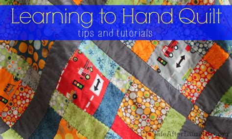 Learn To Make Quilts by Learning To Quilt After Laundry