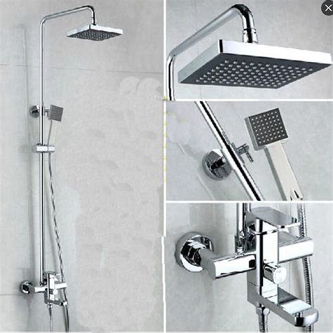 Shower Wall Mount wall mount bath shower faucet set shower