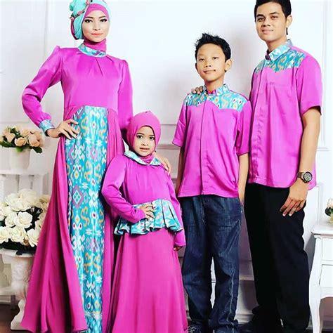 Baju Muslim Sarimbit Keluarga 9 Model Baju Muslim Untuk Lebaran Dan Pesta