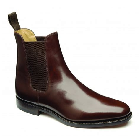 brown chelsea boots loake loake 290 brown polished leather chelsea boot