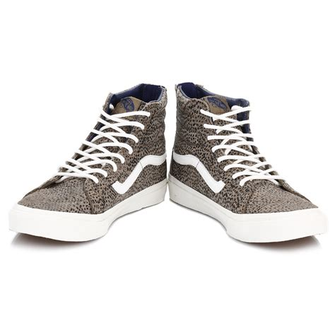 Vans Sk8 High Quality Casual Made In vans womens trainers cheetah suede sk8 hi slim lace up zip casual shoes vxh8gym ebay