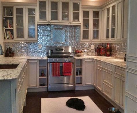 kitchen backsplash tin tin backsplash for kitchen tin ceiling xpress inc