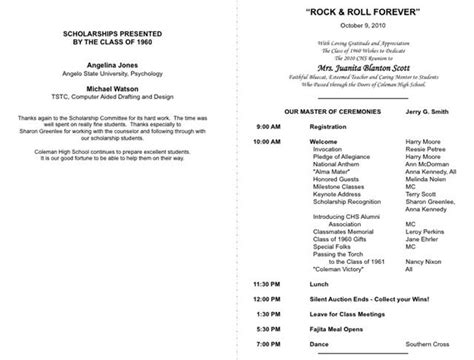 class reunion program template index of cdn 29 2013 769