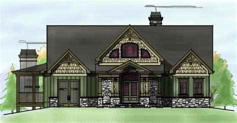 lake house plans for sloping lots craftsman style mountain house plan sloping lot lake home plan dream home plans