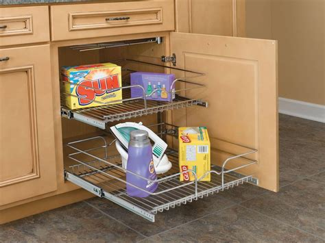 12 inch double pull out chrome wire shelf 18 quot deep 5wb2 rev a shelf 5wb2 2122 cr chrome 5wb series 21 quot double pull