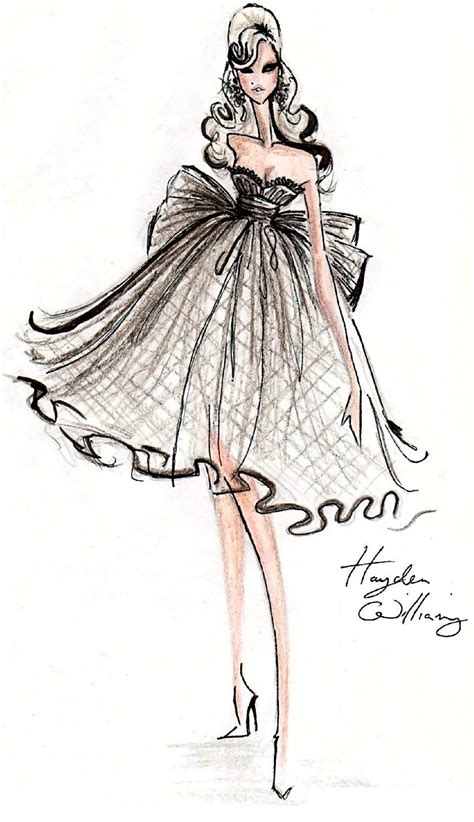 fashion illustration dress hayden williams fashion illustrations may 2011