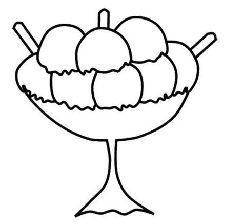 ice cream bowl coloring page bowl of ice cream in a cup coloring page cookie