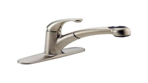 delta single handle kitchen faucet with spray delta