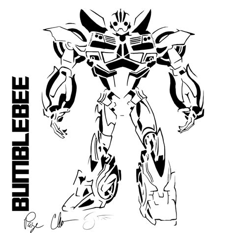 girl transformer coloring page bumblebee stencil by dragongirl508 transformers