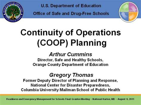 3 continuity of operations coop planning authorstream