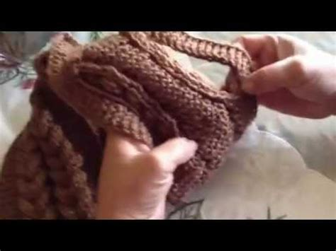 bufandas de trenza bufanda con dos trenzas en agujas parte dos youtube