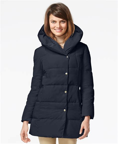 j cole the warm up zip lyst cole haan hooded asymmetrical zip down puffer