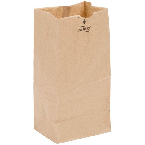 Paper Bag duro 4 lb brown paper bag 500 bundle