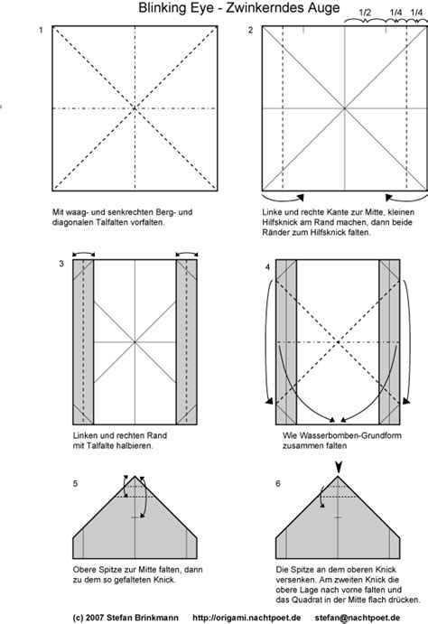 Blinking Eye Origami - index of origami origami diagramme