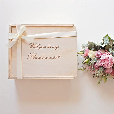 Will You Be My will you be my bridesmaid bridesmaid gift box the
