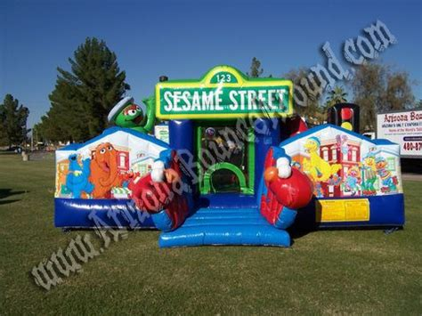 bounce house rentals az sesame street elmo bounce house rentals phoenix or scottsdale arizona