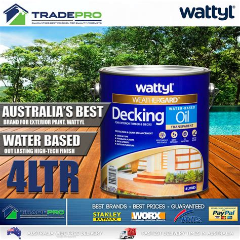 wattyl decking oil pro water based  natural timber