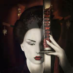 Home Decor Canvas hakkasan halloween geishas curtis stokes fine art