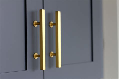 brushed gold cabinet hardware kitchen reveal andrea porritt