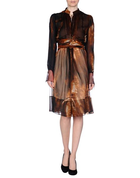 Dress Brown lyst givenchy dress in brown