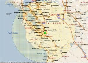 San Jose Ca Map by San Jose California Map