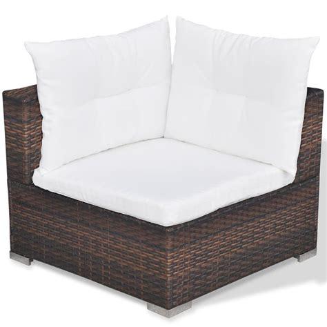 brown rattan sofa vidaxl 14 piece garden sofa set brown poly rattan vidaxl com