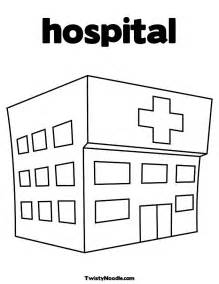 Alfa Img  Showing &gt Hospital Coloring Pages sketch template