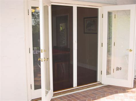 screen door for outward swinging door retractable door screen