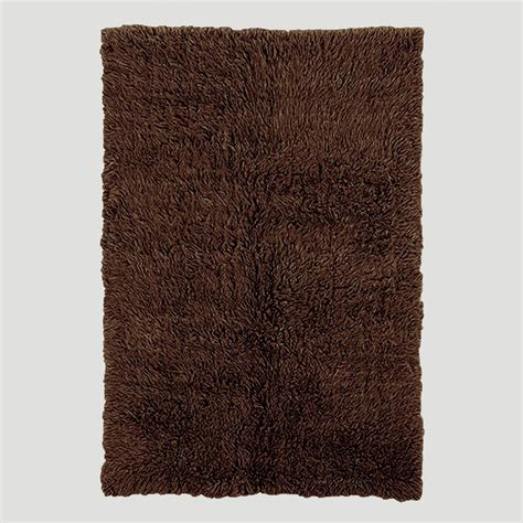 flokati wool rug cocoa brown flokati wool rug world market